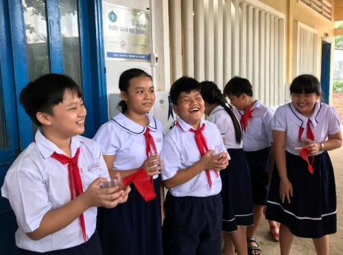 """Implementing """"Clean Water for Schools"""" project to children in remote areas"""