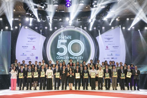 Lễ vinh danh 50 công ty niêm yết tốt nhất năm 2019 do Forbes Việt Nam bình chọn