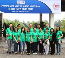 Pepsico Vietnam & Friends join hands for community